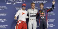 Rosber, Alonso y Vettel en Bahrein/ laionformacion.com