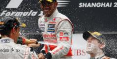 Rosberg, Hamilton y Button en el podio/ lainformacion.com