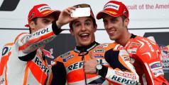 Márquez, Pedrosa y Dovizioso en el podio de Austin