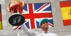 Lewis Hamilton en el podio/ lainformacion.com