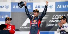 Vettel, Massa y Kobayashi en el podio de Japón/ lainformacion.com