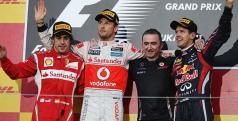Podio finla del GP de Japón/ lainformacion.com/ Getty Images