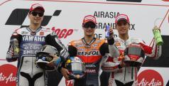 Lorenzo, Pedrosa y Bautista en el podio de MotoGP