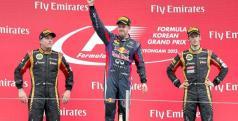 Vettel, Raikkonen y Grosjean en el podio de Korea/ lainformacion.com