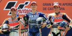 Lorenzo, Pedrosa y Márquez en el podio de Montmeló/ lainformacion.com