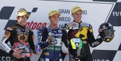 Podio de Moto2 en Aragón