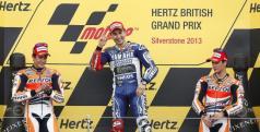 Lorenzo, Márquez y Pedrosa en el podio de Silverstone/ lainformacion.com