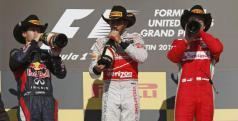 Hamilton, Vettel y Alonso en el podio de Austin/ lainformacion.com/ Reuters