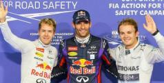 Webber, Vettel y Rosberg en Yas Marina/ lainformacion.com