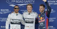 Rosberg, Hamilton y Vettel en Montmeló/ lainformacion.com