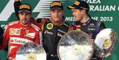 Alonso, Raikkonen y Vettel/ lainformacion.com