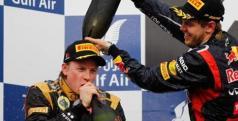 Kimi Raikkonen y Sebastian Vettel/ lainformacion.com