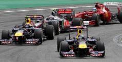 Los monoplazas de Red Bull, McLaren y Ferrari/ lainformacion.com/ EFE
