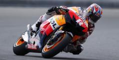 Jonathan  Rea probando la Honda de MotoGP