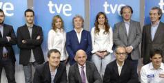 Equipo del Mundial de Motociclismo de RTVE encabezado por Ernest Riveras/ RTVE