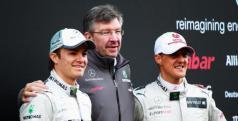 Ross Brawn, Schumacher y Rosberg/ lainformacion.com