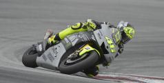 Valentino Rossi en los test de Sepang