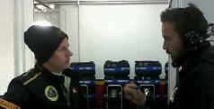 Kimi Raikkonen antes de subir al monoplaza/ twitter Lotus F1 Team