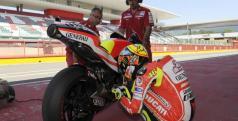 Valentino Rossi con la Ducati Desmosedici GP12