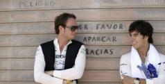 Giedo van der Garde y Sergio Pérez