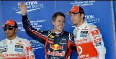Sebastian Vettel, Jenson Button y Lewis Hamilton/ lainformacion.com/ EFE