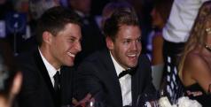 Sebastian Vettel en la gala de premios de la FIA
