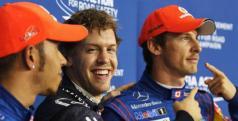 Sebastian Vettel, Lewis Hamilton yJenson Button/ lainformacion.com/ Getty Images