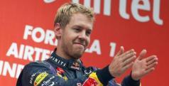 Sebastian Vettel en el podio del GP de India/ lainformacion.com