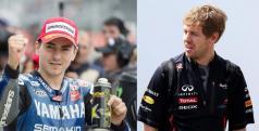 Jorge Lorenzo y Sebastian Vettel