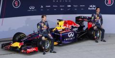 Vettel y Ricciardo con el RB10