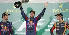 Sebastian Vettel celebra una nueva victoria/ lainformacion.com