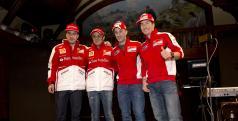 Los pilotos de Ducati y Ferrari en el Wrooom 2013