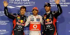 Lewis Hamiton, Mark Webber y Sebastian Vettel/ F1